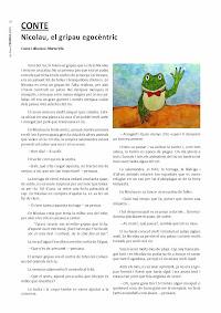 La Torre Ferrera: Revista número 27. Conte: Nicolau, el gripau egoncèntric