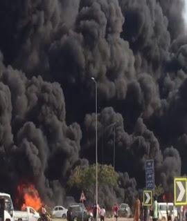 عاجل : حريق ضخم بطريق مصر الإسماعيلية