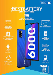 TECNO Spark 6 Air Best Budget Smartphone