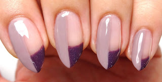Mauve Geometric Nails