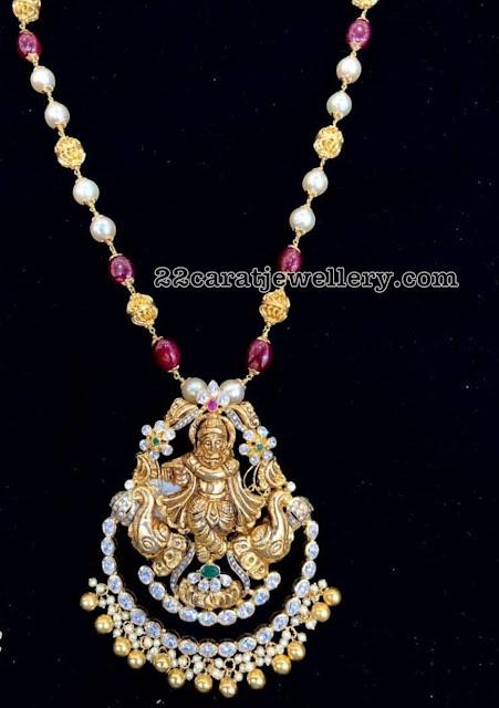 Krishna Pendant with Beads Chain