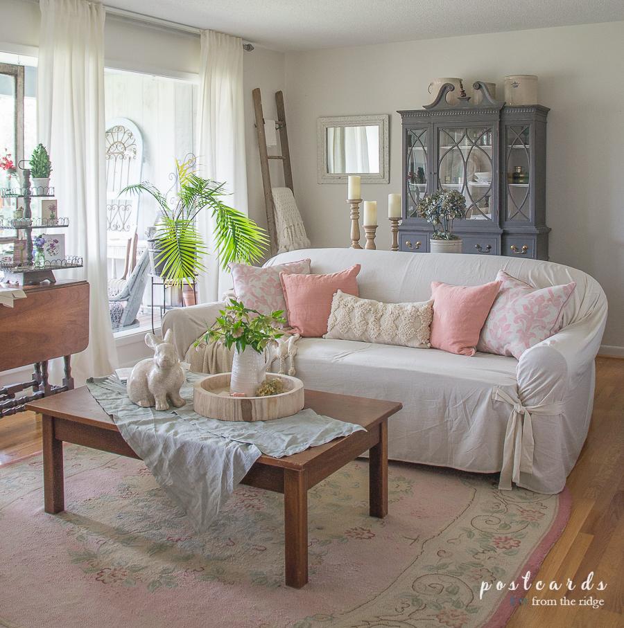 Spring Living Room Decorating Ideas: Spring Entry And Living Room Decor, Plus Free Spring