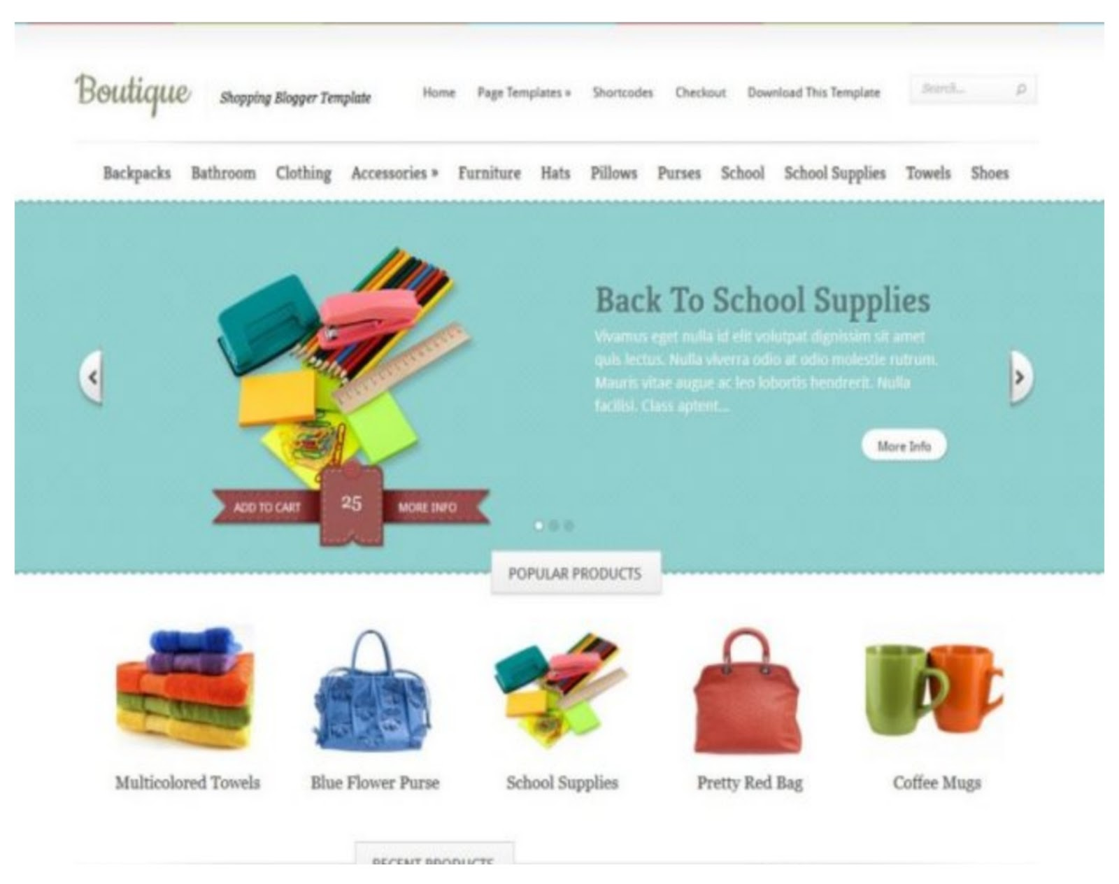 Boutique Shopping Store Template