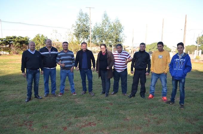Parceria entre associação de moradores e  Vereador Marino Garcia, fortalece o esporte no 1º Maio