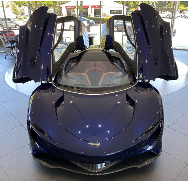 Cận cảnh siêu xe McLaren Speedtail hybrid đầu tiên tại Mỹ