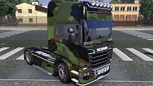 Camo skin for Scania Streamline