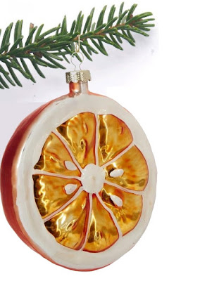 Orange Fruit Christmas Ornament