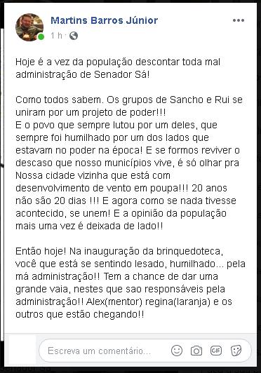 Convocação para vaiar evento com primeira dama e governadora, discussões e intimidação de pré-candidato de Senador Sá é notícia na rádio Liberdade Fm 90.3