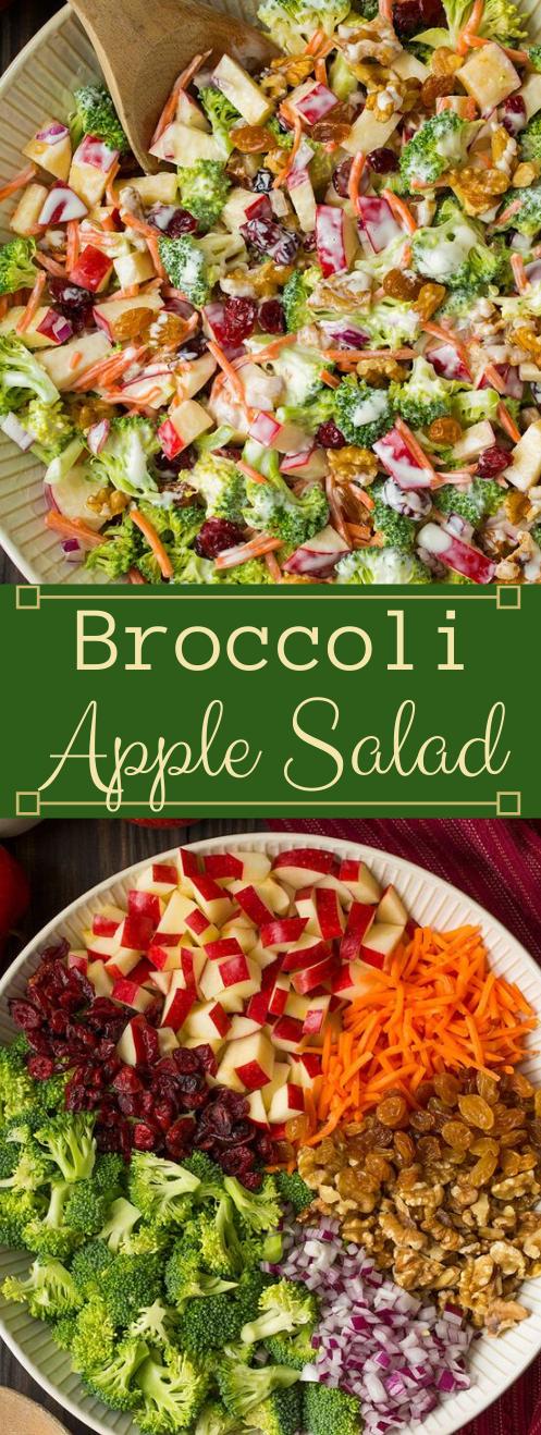 Broccoli Apple Salad #healthydiet #recipes #easy #salad #apple