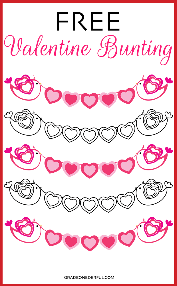 Free Valentine bunting clipart