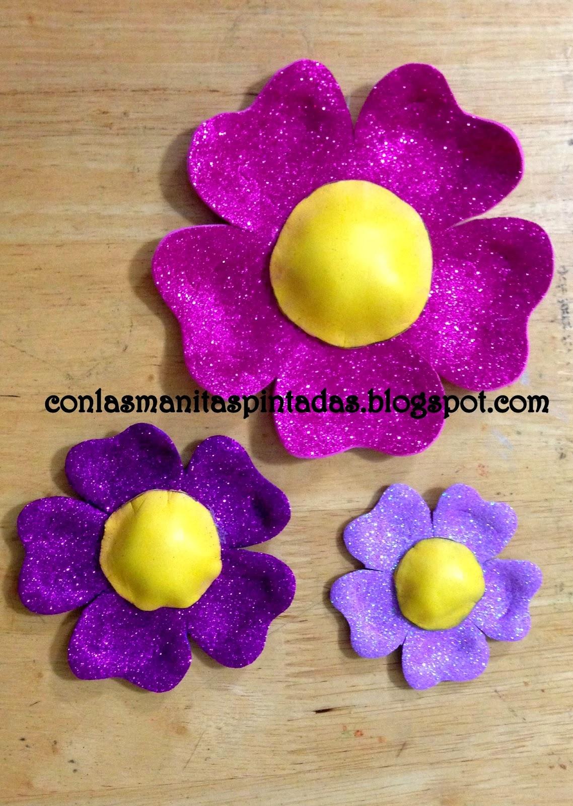 Con las manitas pintadas como hacer flores con goma eva - Www como hacer flores com ...
