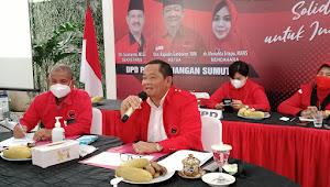 Target Menang Hattrick Pemilu 2024, DPD PDI-P Sumut Konsolidasi Badan Dan Sayap