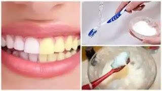 وصفة لتبيض الأسنان من الصفار.