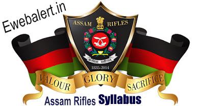 Assam Rifles Syllabus