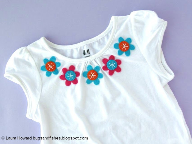 Floral Applique T-shirt Tutorial