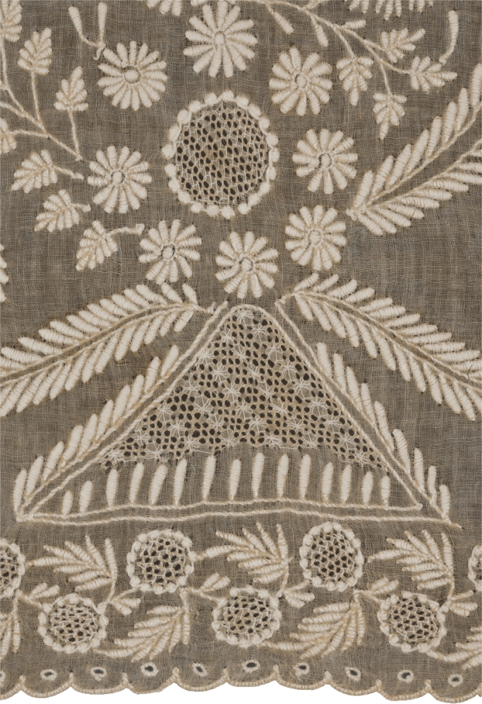 Lucknow chikan shawl, 19th century