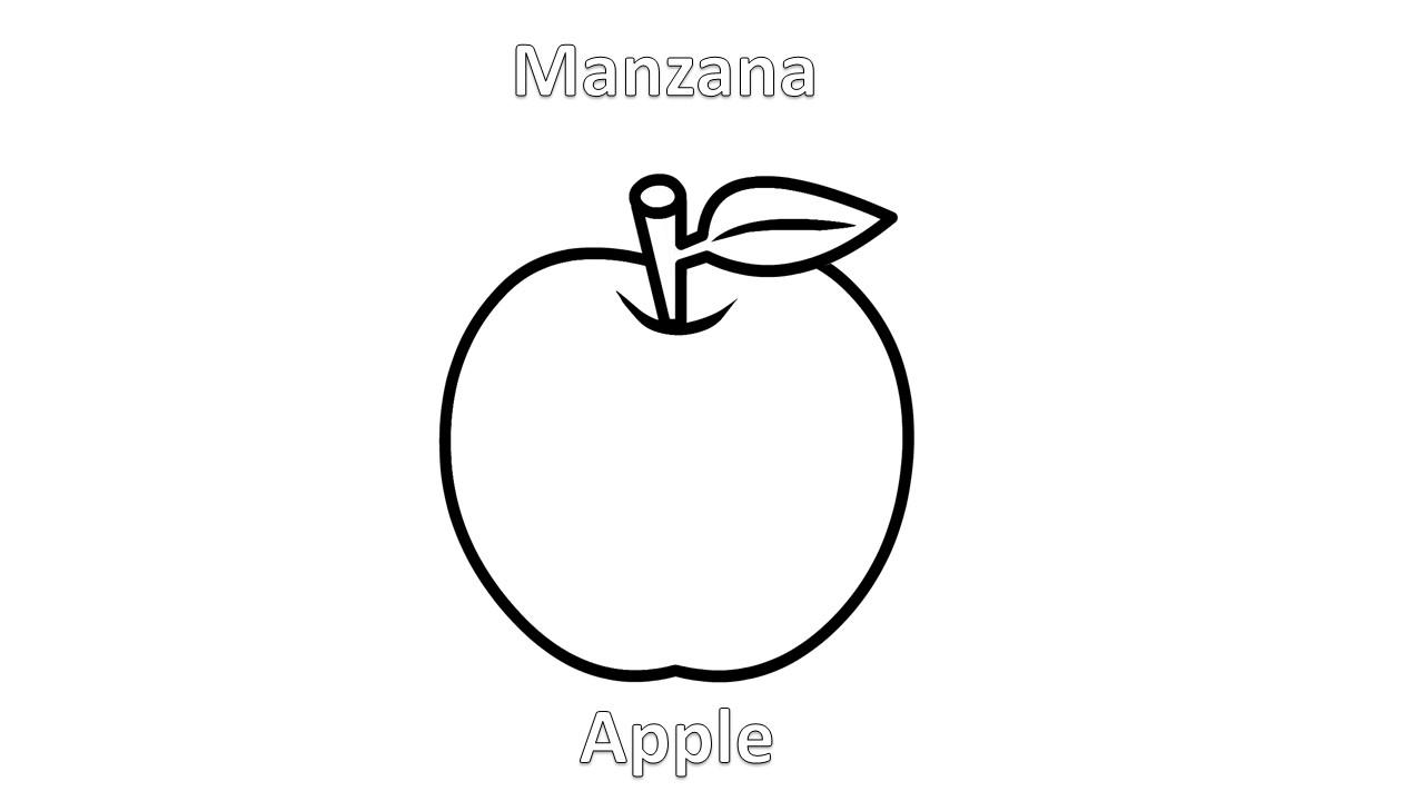 Imagenes Para Dibujar En Ingles Y Español Frutas Para