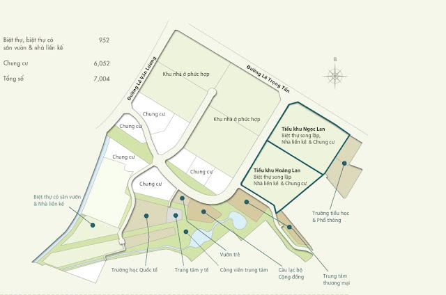 Quy hoạch tổng thể Park City Hanoi