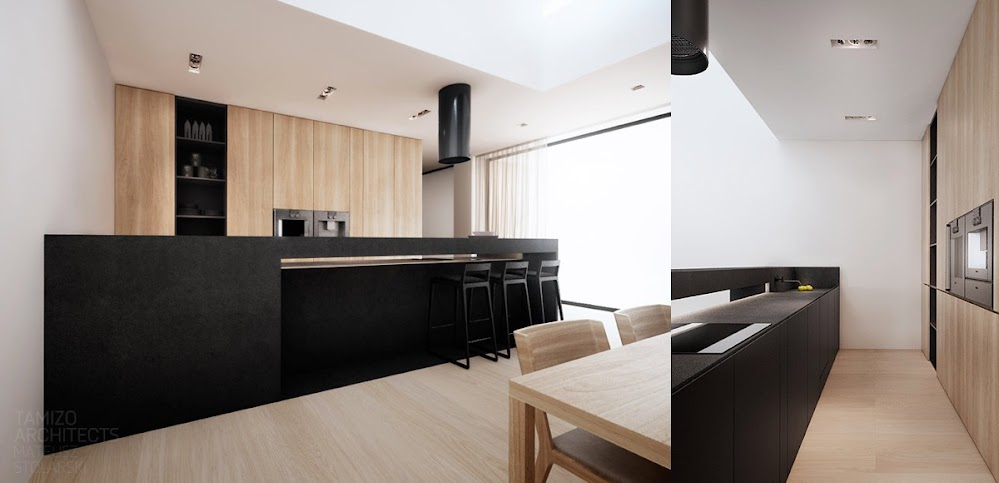 black-kitchen-counter