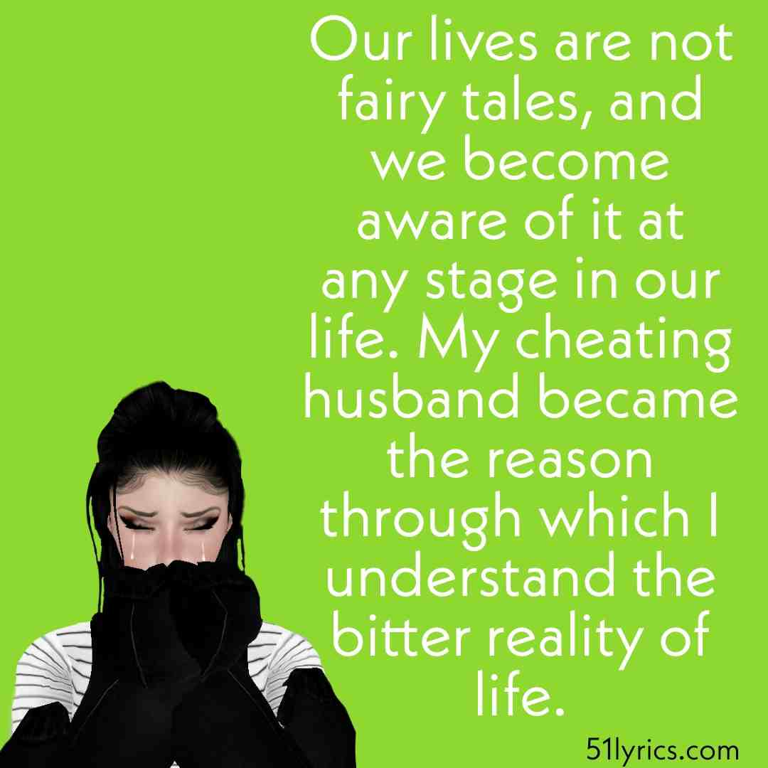 sad cheated husband quotes
