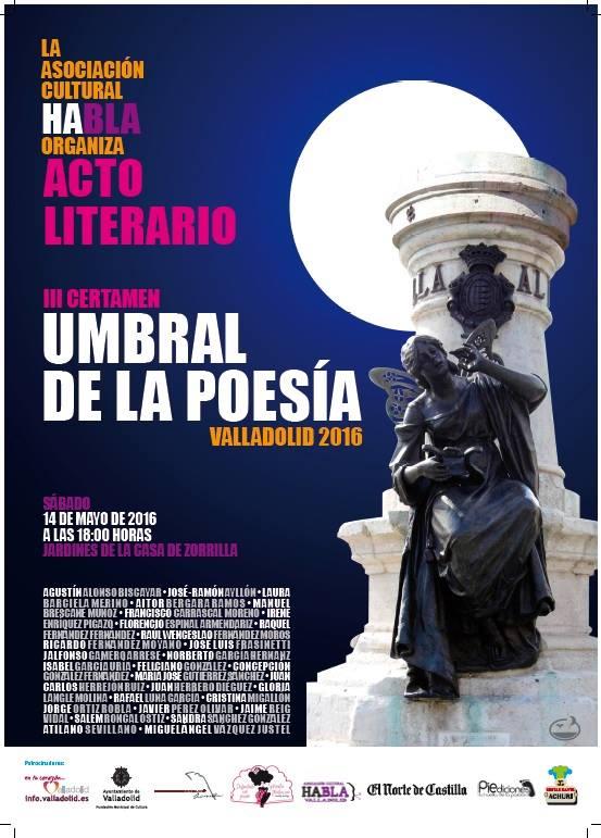 CARTEL DEL III CERTAMEN UMBRAL DE POESÍA DE VALLADOLID