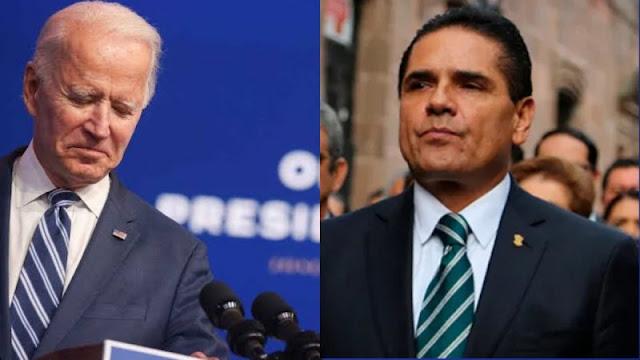 Gobernador PERREDISTA pide ayuda a Biden para anular la elección de Michoacan