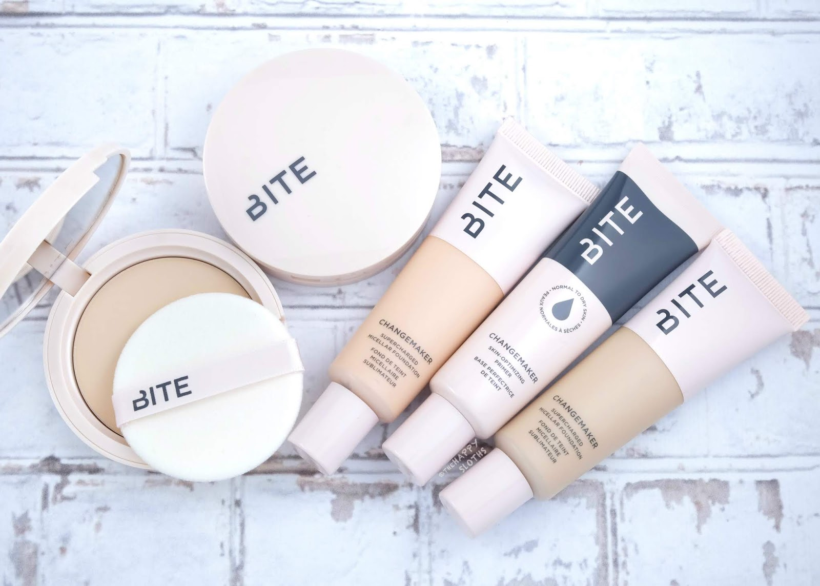 Bite Beauty | Changemaker Skin-Optimizing Primer, Changemaker Supercharged Micellar Foundation & Changemaker Flexible Coverage Pressed Powder: Review and Swatches