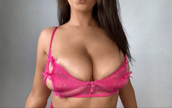 try on haul-busty-glamour-model-topless-2