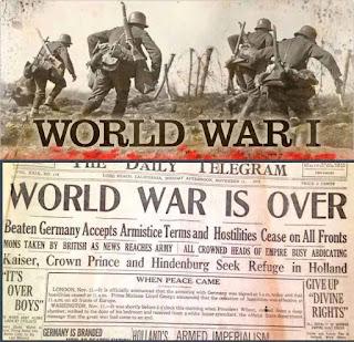 வரலாற்றில் இன்று நவம்பர் 11ம் நாள் முதலாம் உலகப் போர் முடிவுற்ற நாள்.