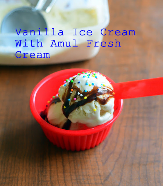 Eggless Vanilla Ice Cream Recipe
