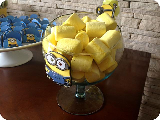 Decoração Festa dos Minions : Marshmallow Minions Fini