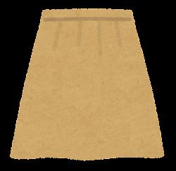 スカートのイラスト(茶色)