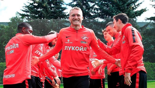 Шюррле провел первую тренировку в «Спартаке»