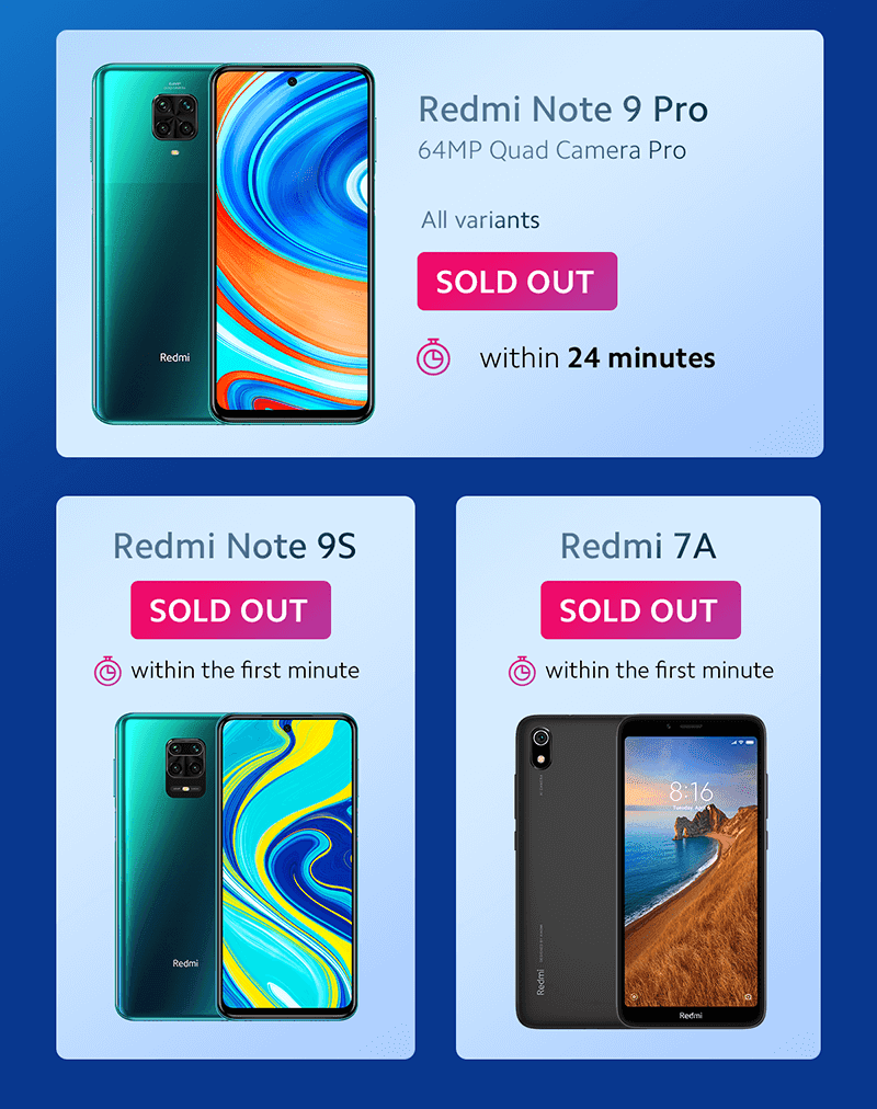 Several Xiaomi smartphones sold-out immediately!