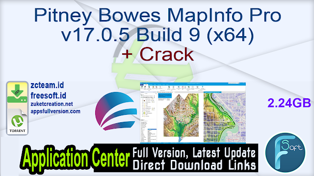 Pitney Bowes MapInfo Pro v17.0.5 Build 9 (x64) + Crack_ ZcTeam.id