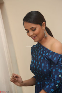 Anchor Anasuya in a Blue Gown at Jai Lava Kusa Trailer Launch ~  Exclusive Celebrities Galleries 052