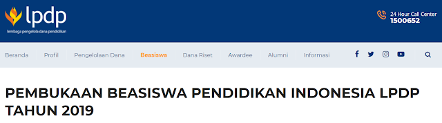 Beasiswa Pendidikan Indonesia Tahun 2019