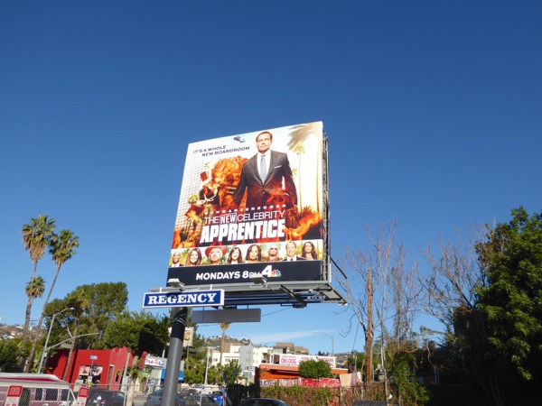 Schwarzenegger New Celebrity Apprentice billboard