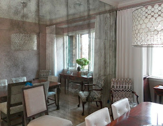 An Antique Mirrored Wall