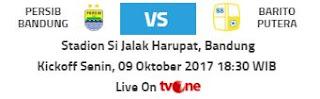 Kickoff Persib Bandung vs Barito Putera Tetap Malam Hari