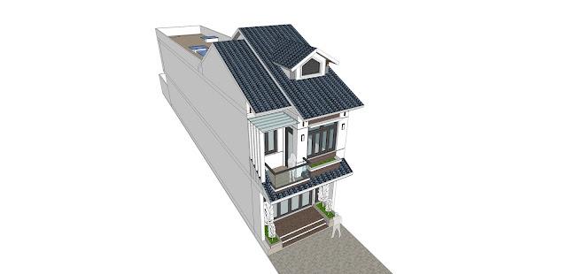 Thiết kế và xây nhà trọn gói ngôi nhà 2 tầng mái ngói – phong cách hiện đại - Anh kiên – Trảng Dài