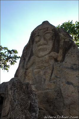 One of the classic stone carvings outside of San Agustin, colombia, Chris Baer, San Agustin