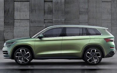 coming 2017 Skoda Kodiaq SUV side angle  Hd Pictures