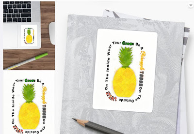 Be A Pineapple Digital Watercolor Sticker