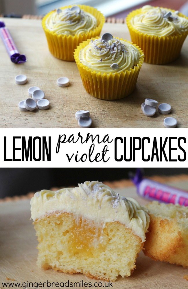 Lemon Parma Violet Cupcakes Recipe Sweets