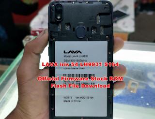 Lava Iris 54 LH9931 Flash File All Verion Support Hang Logo FraziTelecom