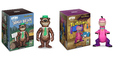 San Diego Comic-Con 2019 Exclusive Hanna-Barbera Grin Vinyl Figures by Ron English x MINDstyle Worldwide – Yogi Bear & The Flintstones