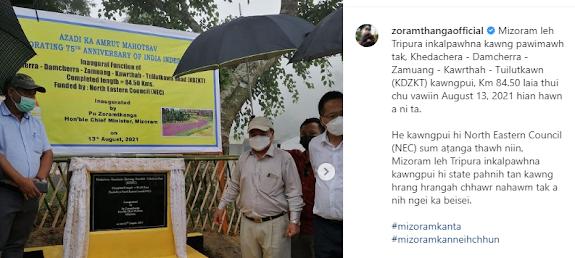 Mizoram Tripura kawngpui