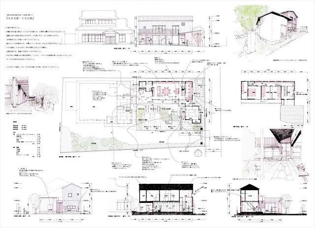 地域の風景と暮らしをつなぐ家 平面・断面・立面計画 空間のイメージ
