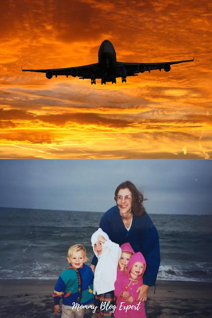 Airplane Sunset Beach Mom Kids